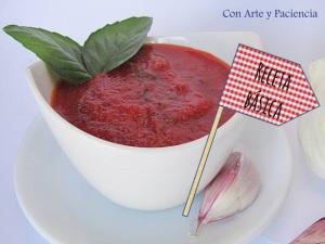Salsa tomate pizza