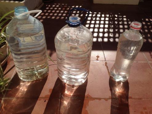 agua al sol